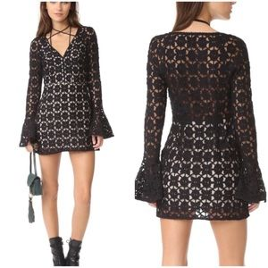 NWOT FREE PEOPLE Back to Black Crocheted Dress